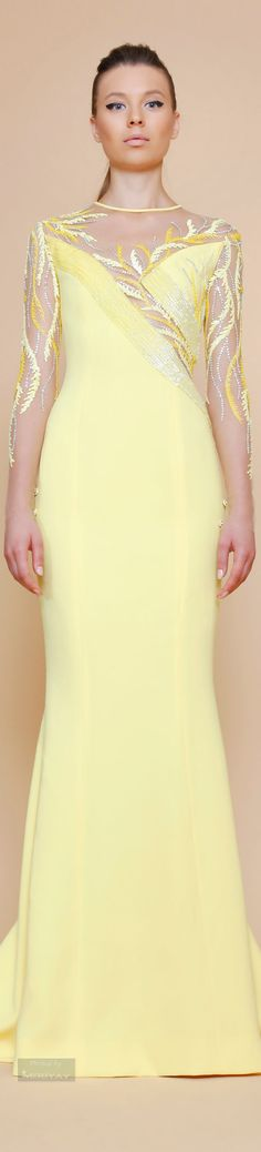She's Like Yellow Sunshine Summer 2015, Spring Summer, Spring 2015, Georges Chakra, Moda Paris, Ballroom Dress, Yellow Fashion, Mellow Yellow, Couture Collection