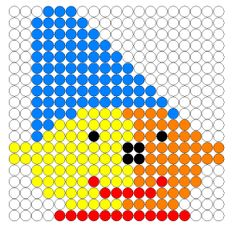 Kralenplank Pompom Perler Beads, Beading Patterns, Pixel Art, Kids Rugs, Drawings, Teaching, Pom Poms, Cooperative Learning, Motor Skills