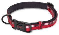 Halti Premium Reflective Dog Collar Large Red