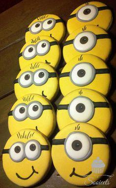 Minion Sugar Cookies by Sooieets, via Flickr