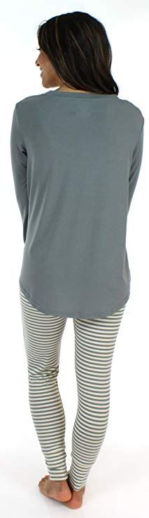 0a63d2ea1d5 Sleepyheads Women s Sleepwear Knit Longsleeve Top and Leggings Pajamas PJ  Set at Amazon Women s Clothing store