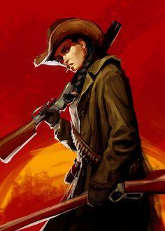 Red Dead Redemption, Character Portraits, Character Drawing, Dnd Characters, Fantasy Characters, West Art, Western Girl, Cowboy Art, Le Far West