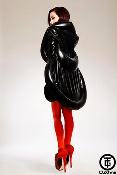 TG ARADIA Latex Rubber Inflatable Coat by HOUSEofHARLOT on Etsy