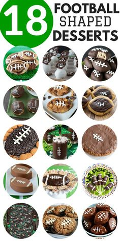 18 football shaped desserts for game day or super bowl! Some of the cutest football food ideas! 18 football shaped desserts for game day or super bowl! Some of the cutest football food ideas! Superbowl Desserts, Healthy Superbowl Snacks, Football Snacks, Tailgating Recipes, Tailgate Food, Football Recipes, Football Brownies, Tailgate Desserts, Team Snacks