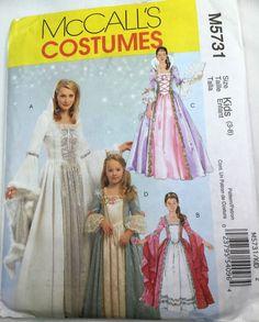 Kids McCalls M5731 Princess Costume Pattern Size 3 to 8 Uncut Factory Folded #Simplicity