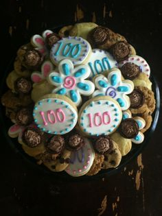100th Birthday Party Cookies!