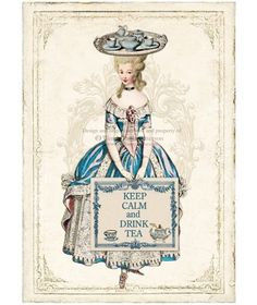 marie antoinette card - copyrighted - for inspiration only