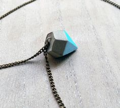Ketten mittellang - Kette Beton, Diamant - ein Designerstück von Tauna bei…