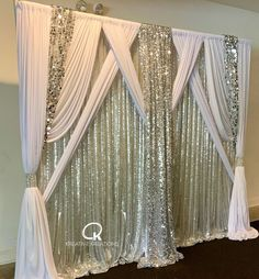 Prom Backdrops, Backdrops For Parties, Home Wedding Decorations, Backdrop Decorations, Fabric Backdrop, Pipe And Drape Backdrop, Wedding Backdrop Design, Wedding Arbors, Wedding Stage