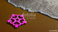"""Download the royalty-free photo """"Hearty People Group at the Beach. 3D Rendering Illustration"""" created by Fotolia365 at the lowest price on Fotolia.com. Browse our cheap image bank online to find the perfect stock photo for your marketing projects!"""