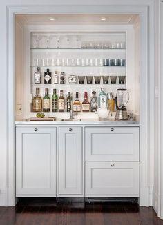 Modern meets traditional in Pacific Heights mini bar Wet Bar Designs, Home Bar Designs, Kitchen Designs, Kitchen Ideas, Mini Bars, Bar Embutido, Closet Bar, Entry Closet, Luxury Interior Design