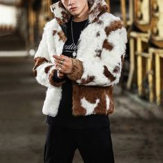 Occident Women fashion Overcoat Marten Hair Knit Outwear Jacket Stand Collar