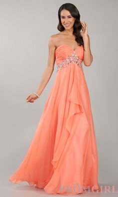 salmon colored formal dress | Prom Dresses, Celebrity Dresses ...