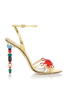 Charlotte Olympia Metallic Gold Sandals Multicolor  Heels Fall 2014 #Shoes #HighHeels