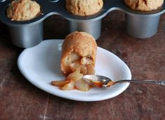 Honey Pear Muffins:  honey, olive oil cake with a pear and honey toffy bottom.