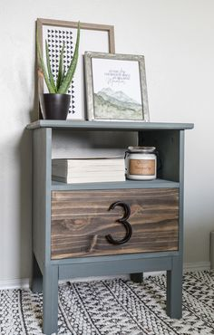 home decor ikea Give this basic Ikea Nightstand an easy modern makeover in just a few hours ing the tutorial for this Tarva Nightstand Hack! Tarva Ikea, Ikea Hack Nightstand, Nightstands, Ikea Dresser, Bedroom Decor On A Budget, Decorating On A Budget, Bedroom Ideas, Interior Decorating, Interior Design