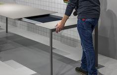 verlengbare design tafels in kleine en grote maten en diverse kleuren