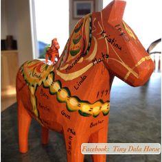 Tiny Dala Horse meets Family History Dala Horse