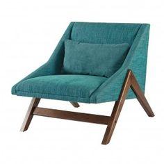 Turquoise Boomerang Chair