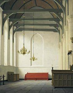 Henk Helmantel - De zuidbeuk st. Nicolaaskerk in Monnickendam (1988)