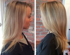Beautiful highlights and styling done by our talented team at a The Beauty Box in Rye, Ny.