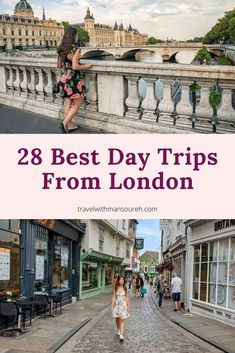 If you only have one day to explore places outside of London, this guide will help you discover the 28 best day trips you can take from London by train, by bus or by driving your own car. Backpacking Europe, Europe Travel Guide, Travel Guides, Travelling Europe, Travel Advice, Europe Destinations, Amazing Destinations, Holiday Destinations, Day Trips From London