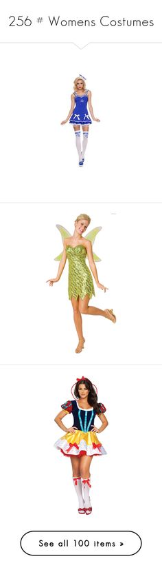 """""""256 # Womens Costumes"""" by velloxal ❤ liked on Polyvore featuring costumes, deluxe adult costumes, tinkerbell costume, tinker bell costume, adult tinkerbell halloween costume, tinker bell halloween costume, adult women costumes, adult princess costume, sexy adult halloween costumes and adult snow white costume"""