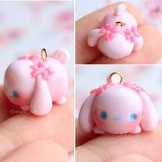 Polymer clay Cinnamoroll Tsum Tsum by amazin_crafts
