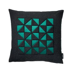 Discover the Sahco Satimento Cushion - Green - 40x40cm at Amara