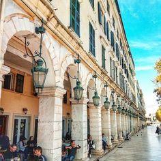 Corfu, Greece ... Corfu Greece, Mykonos Greece, Athens Greece, Vacation Places, Dream Vacations, Places To Travel, Travel Destinations, Corfu Town, Corfu Island