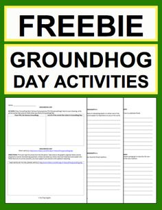 Groundhog Day Activities: Free Printables:Free NO PREP Groundhog Day student printables. Simply print, project & teach this GROUNDHOG DAY!! File includes link to GROUNDHOG DAY History & Traditions Article, Informational Reading Response, Expository Writing Prompt, Persuasive Writing Prompt, Creative Writing Prompt, Holiday Acrostic Poem and Holiday Word Search