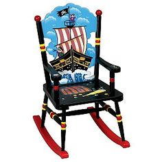 Pirate Collection Kids Rocking Chair
