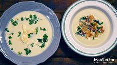 Póréhagymaleves:1. Tisztítsuk meg a burgonyát, és kockázzuk fel, a póréhagymát hosszában vágjuk fel, és nézzük meg, nem bújik-e meg benne kosz. Utána vágjuk félfőre.2. Jamie Oliver, Hummus, Eggs, Plates, Breakfast, Tableware, Ethnic Recipes, Kitchen, Licence Plates