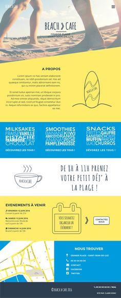 Page Accueil d'une maquette pour le site (fictif) d'un café