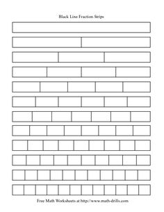 Blackline Fraction Strips -- need these for my math journals to compare fraction