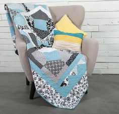 Rosebud Quilt Kit - love the pattern  colors of this quilt. I would love it more in red with gray!!!