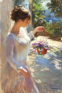 "culturenlifestyle: "" Delicate and Sensual Classical Portrait Compositions By Russian Artist Vladimir Volegov Russian Artist Vladimir Volegov paints beautiful portraits of young women and girls set in. Painting People, Woman Painting, Figure Painting, Painting Art, Oil Paintings, Light Painting, Painting Abstract, Abstract Sculpture, Painting Tips"