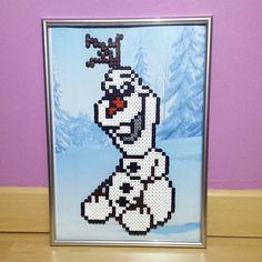 Olaf Frozen perler beads by Pixel LoverZ