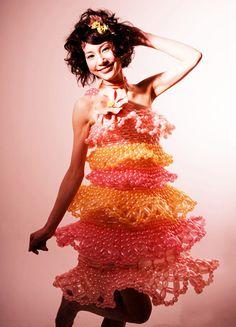 Ballon dress. Made entirely of balloons!!