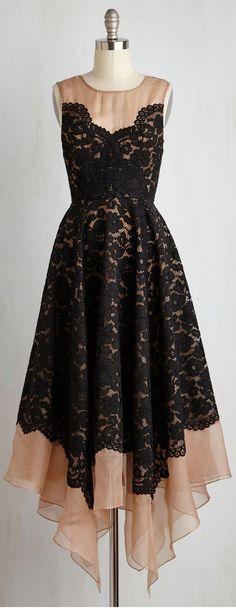 lace mesh layered dress