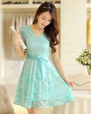 Women's lace Dress Mini Slim ladies Dress Evening Party Casual Chiffon Dress XL