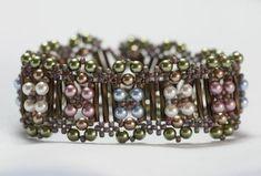 Demigod Crossweave Bracelet... tutorial...intermediate....