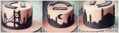 Skyline Cake Istanbul  Cake by IncesBAKERY