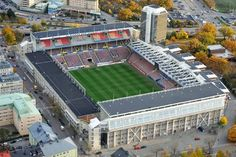 Past Stadiums :: Råsunda Stadion in Stockholm Soccer Stadium, Football Stadiums, Football Soccer, Stadium Architecture, Architecture Design, Soccer Kits, European Football, Stockholm, Past