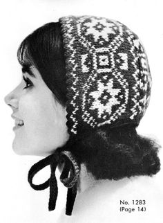 Knitting Patterns Vintage Norwegian Baby Cap knit pattern from High Fashion Hats, originally published by Bernhard Ulmann, Vol… Knitting Patterns Free, Knit Patterns, Vintage Patterns, Free Knitting, Knitting Needles, Free Pattern, Vintage Knitting, Vintage Crochet, Knitted Hats