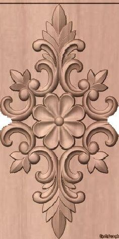 Wood Carving Designs, Wood Carving Patterns, Wood Carving Art, Wood Art, Wood Wood, Wood Carvings, Ornaments Design, Wood Ornaments, Wooden Door Design