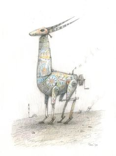 Home-made antelope, Shaun Tan pinned with Bazaart