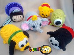 tsum tsum crochet disney inspired