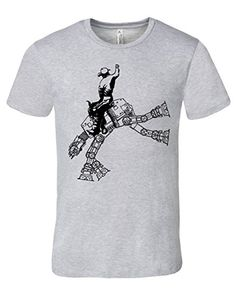 Mission Thread Clothing Mens Star Wars At-At Cowboy Rodeo T-Shirt Large Athletic Heather
