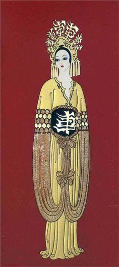 Costume Design - Erte - WikiPaintings.org
